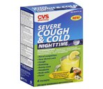 CVS Nighttime Cough & Severe Cold Packets Honey Lemon