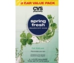 CVS Emerald Mist Spring Fresh Deodorant Soap Value Pack