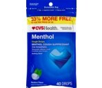 CVS Cough Drops Menthol