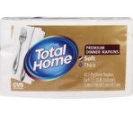 Total Home by CVS  Premium Dinner Napkins, 2 ply White