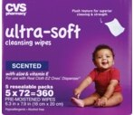 CVS Ultra-Soft Cleansing Wipes w/ Aloe & Vitamin E, Scented