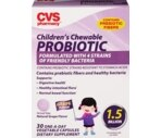 CVS Children's Chewable Probiotic Tablets Grape
