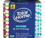 Total Home by CVS  Facial Tissue Soft & Strong 2-Ply, 8 Pack