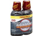 CVS Multi-Symptom Nighttime Cold/Flu Relief Liquid Cherry Twin Pack