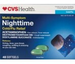 CVS Multi-Symptom Nighttime Cold/Flu Relief Softgels