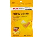 CVS Honey Lemon Cough Drops with Soothing Vapors Sugarfree