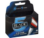 Blade 5 Blade Razor + Trimmer Cartridges
