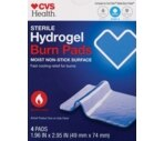 CVS Advanced Burn Relief Moist Hydrogel Pads