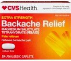 CVS Backache Relief Caplets Extra Strength