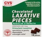 CVS Chocolate Laxative Pills Regular Strength