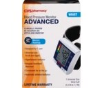 CVS Automatic Wrist Blood Pressure Monitor, One Size Fits All
