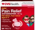 CVS Junior Pain Relief Rapid Tabs Bubblegum Flavor
