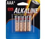 CVS Alkaline Batteries AAA 4-Pack