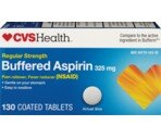 CVS Buffered Regular Strength Aspirin Coated Tablets