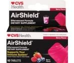 CVS AirShield Effervescent Formula Tablets Berry Flavor