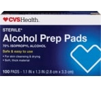 CVS Alcohol Prep Swabs