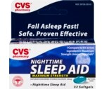 CVS Nighttime Sleep Aid Softgels Maximum Strength