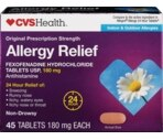 CVS Indoor & Outdoor Allergies Allergy Relief Tablets 180 mg