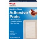 CVS Adhesive Pads Medium 2-1/4 Inches X 3 Inches