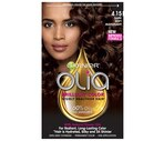 Garnier Olia Oil Powered Permanent Haircolor, 4.15 Dark Soft Mahogany
