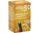 Coromega Omega 3 + Vitamin D3 Squeeze Packets Tropical Orange