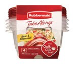 Rubbermaid Take A Longs Round Containers 4 Pack - 3.2 Cups Each