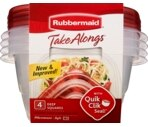 Rubbermaid TakeAlongs 42 oz Deep Square Containers + Lids