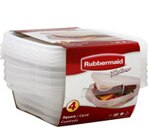 Rubbermaid TakeAlongs 23.5 oz Square Containers + Lids