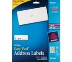 Avery White Mailing Labels 1 X 2-5/8-Inch