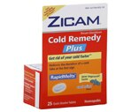 Zicam Cold Remedy Plus Quick Dissolve Tablets Cool Mint
