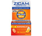 Zicam Ultra Cold Remedy Quick Dissolve Tablets Orange Cream