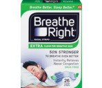 Breathe Right Nasal Strips Extra Clear for Sensitive Skin, One Size