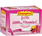 Emergen-C Flavored Fizzy Drink Mix 1000 mg, Pink Lemonade