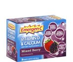 Emergen-C Vitamin D & Calcium Drink Mix Mixed Berry
