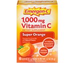 Emergen-C 1,000 mg Vitamin C Packets Super Orange Flavor