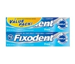 Fixodent Denture Adhesive Cream Dawn to Dark Value Pack, Free