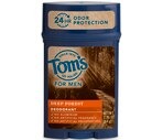 Tom'S Of Maine Men's Long Lasting Wide Stick Deodorant Deep Forest 2.25 OZ, 6CT