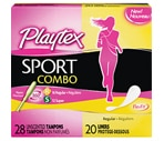 Playtex Sport Combo 28 Tampons, 20 Liners, 48CT