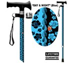 Main Cane™  Designer Cane Adjustable T-Handle Cane, Day and Night Blue