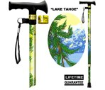 Main Cane™  Designer Cane Adjustable T-Handle Cane, Lake Tahoe