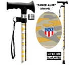 Main Cane™  Designer Cane Adjustable T-Handle Cane, Camoflauge Desert