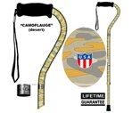 Main Cane™  Designer Cane Adjustable Offset Handle Cane, Camoflauge Desert