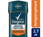 Degree Men Adrenaline Series Adventure Invisible Stick