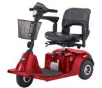 Drive Medical Daytona 3 Wheel Scooter Red