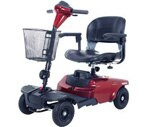 Drive Medical Bobcat 4 Wheel Compact Scooter Red