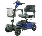 Drive Medical Bobcat 4 Wheel Compact Scooter Blue