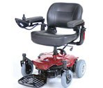 Drive Medical Cobalt Travel Power Wheelchair Red