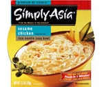 Simply Asia Premium All Natural Rice Noodle Soup Bowl Vegetarian Sesame Chicken