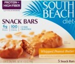 South Beach Diet Snack Bars Whipped Peanut Butter