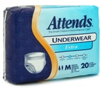 Attends Extra Absorbency Underwear Medium (34-44 Inches) Case